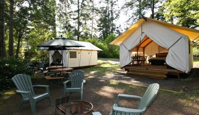 glamping outside Seattle